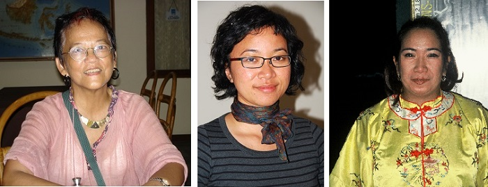 Carla Bianpoen,left, Wulan Dirgantor, centre and Inda Citraninda Noerhadi, right