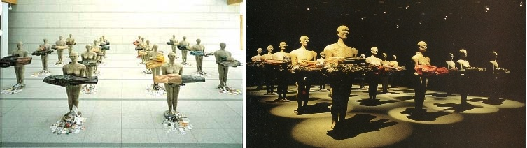 Dadang Christanto, They Give Evidence, Exhibition, left: Tokyo, 1997; right: Art Gallery of NSW, 2003