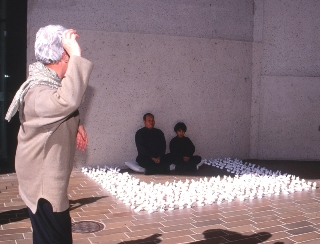 Dadang and his son, Gunung, Performance, ANG, Canberra, 2003