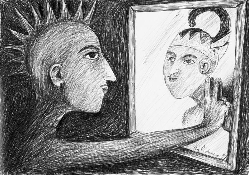 Isa Perkasa, Keliru Kultur (Wrong Culture) Pen drawing, 1997