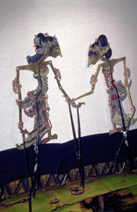 Traditional Wayang figures at the Wayang Museum, Kota district, Jakarta