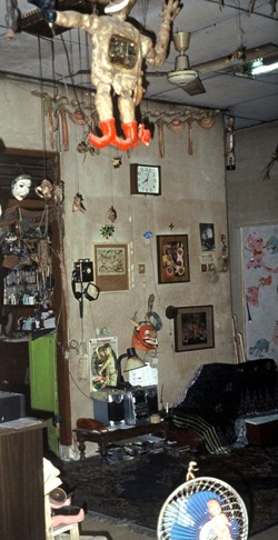 Interior of Heri Dono's home