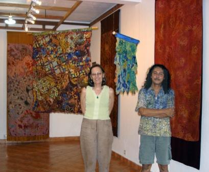 Nia Fliam and Argus Asmoyo in the Brahma Tirta Sari gallery, Yogyakarta