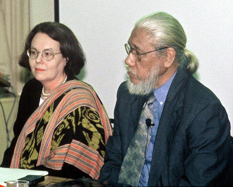 Caroline Turner and Jim Supangkat, in Canberra, 2003