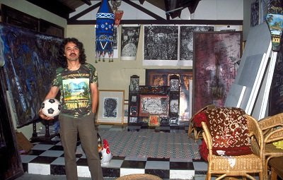 Tisna Sanjaya in his studio at home, Bandung