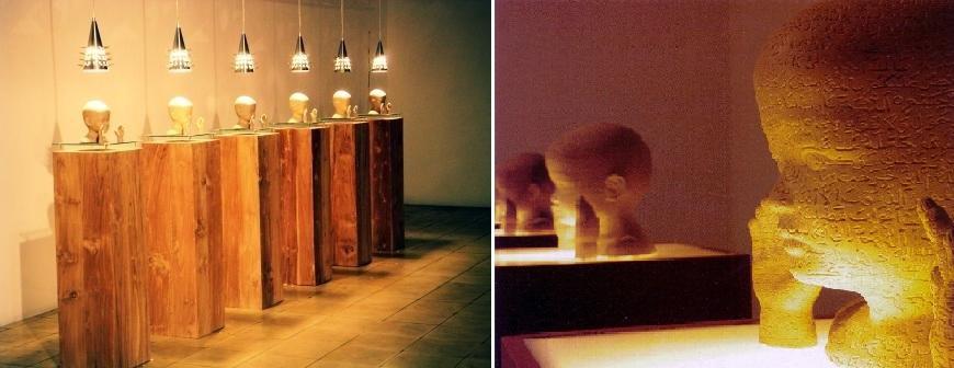 Titarubi, Bayang-bayang maha kecil, 2004, installation view and detail