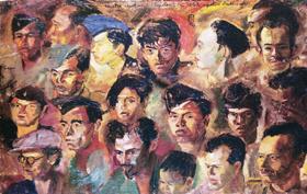 Sudjojono, Kawan-kawan Revolusi (Revolutionary Comrades), 1947